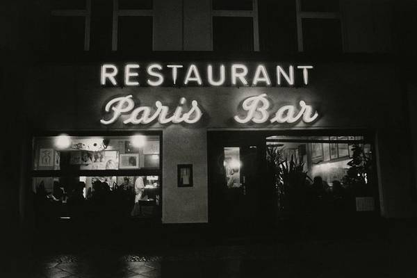 Paris Bar Art Print featuring the photograph The Paris Bar by Dominique Nabokov