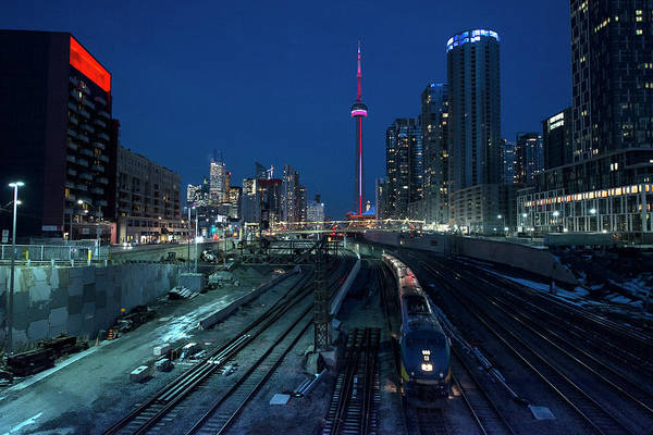 Train Art Print featuring the photograph The Railway Lands Toronto by This Image