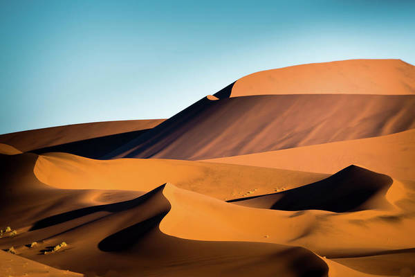 Sand Dune Art Print featuring the photograph The Red Sand Dunes In Namibia by José Gieskes Fotografie