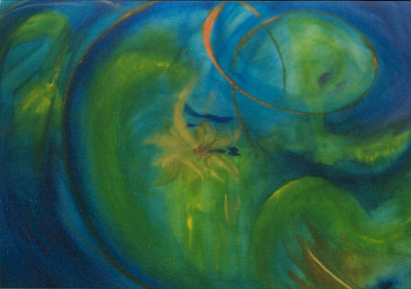 Inspiration Art Print featuring the painting The Search for Center by Phoenix Simpson