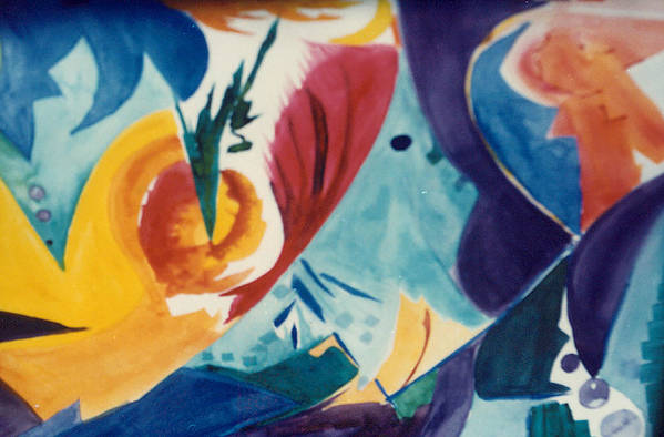 Abstract Art Print featuring the painting The Seed by Phoenix Simpson