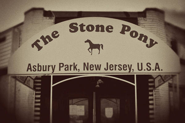 The Stone Pony Vintage Asbury Park New Jersey Art Print featuring the photograph The Stone Pony Vintage Asbury Park New Jersey by Terry DeLuco