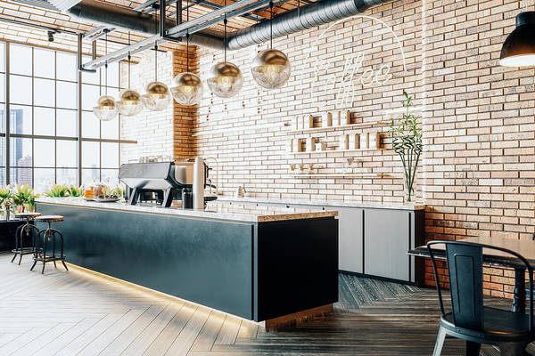 New Business Art Print featuring the photograph Third Wave Coffee Shop Interior by Imaginima