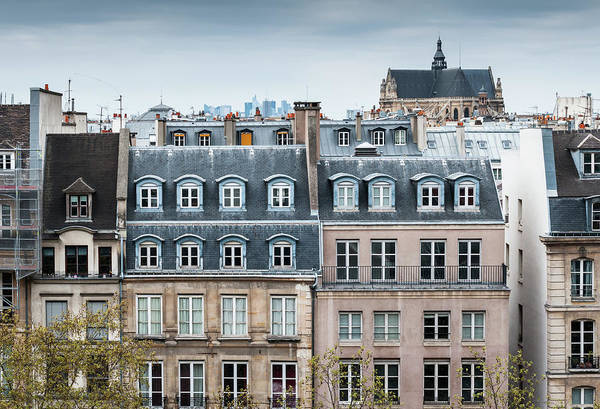 Built Structure Art Print featuring the photograph Traditional Buildings In Paris by Mmac72