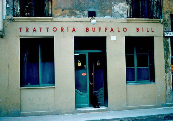 Vicenza Art Print featuring the photograph Trattoria Buffalo Bill 1962 by Cumberland Warden