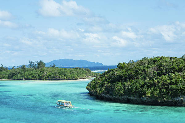 Outdoors Art Print featuring the photograph Tropical Blue Lagoon And Lush Rock by Ippei Naoi