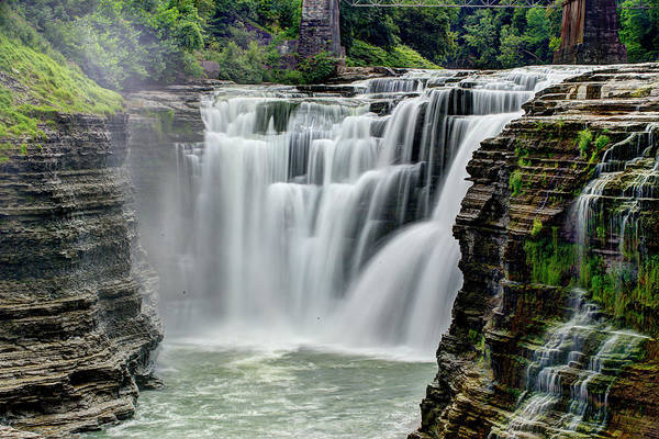 Letchworth State Park Art Print featuring the photograph Upper Letchworth Falls by Tony Shi Photography