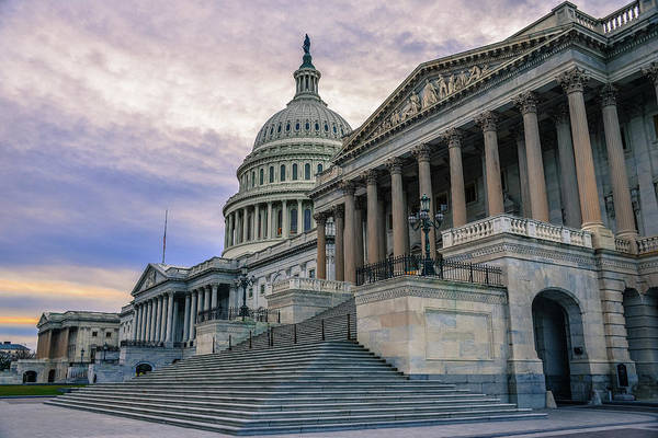 Tranquility Art Print featuring the photograph Us Capitol Building And Senate Chamber by Mbell