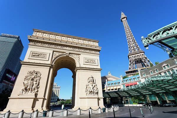 Arch Art Print featuring the photograph Usa, Nevada, Las Vegas, Paris Las Vegas by Sylvain Sonnet