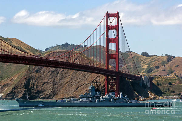 Battleship Art Print featuring the photograph U.s.s. Iowa Up Close by Kate Brown