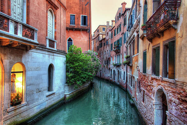 Tranquility Art Print featuring the photograph Venice Canals by Emad Aljumah