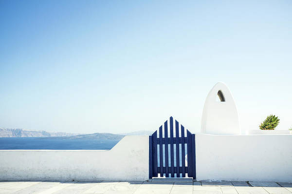 Scenics Art Print featuring the photograph View Of Ocean From Balcony, Greece by Gollykim
