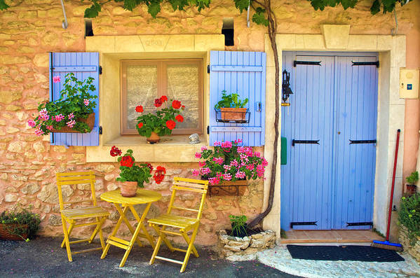 Outdoors Art Print featuring the photograph Village House In The Tiny Luberon by Barbara Van Zanten