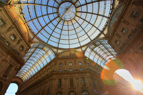 Ceiling Art Print featuring the photograph Vittorio Emanuele II Gallery In Milan by Massimo Pizzotti