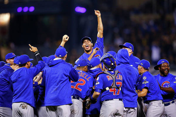 Playoffs Art Print featuring the photograph Wild Card Game - Chicago Cubs V by Jared Wickerham