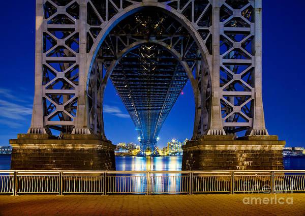 Williamsburg Bridge Art Print featuring the photograph Blue Punch by Az Jackson