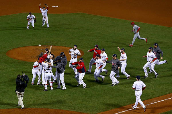 Playoffs Art Print featuring the photograph World Series - St Louis Cardinals V by Jamie Squire