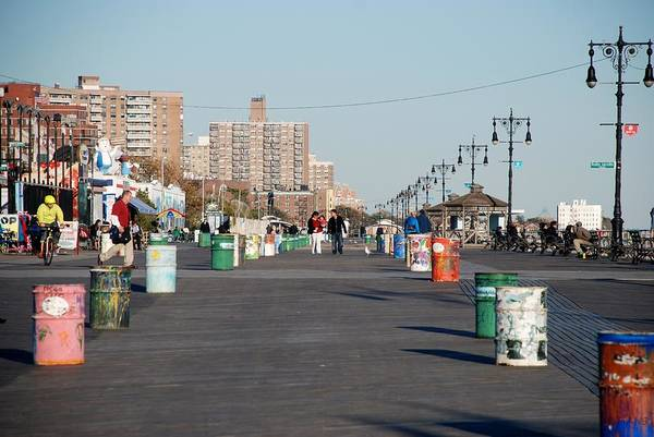 Brooklyn Art Print featuring the photograph Coney Island Boardwalk by Rob Hans