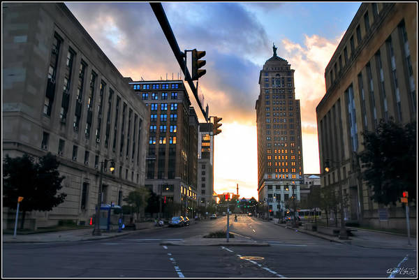 Art Print featuring the photograph Early Morning Court Street by Michael Frank Jr