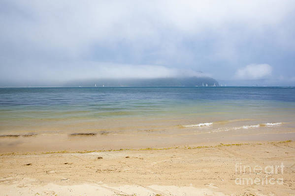 Mist Art Print featuring the photograph Mist over Pittwater by Sheila Smart Fine Art Photography