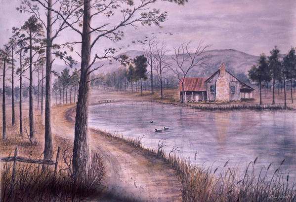 Morning Art Print featuring the painting South Carolina Morning by Ben Kiger
