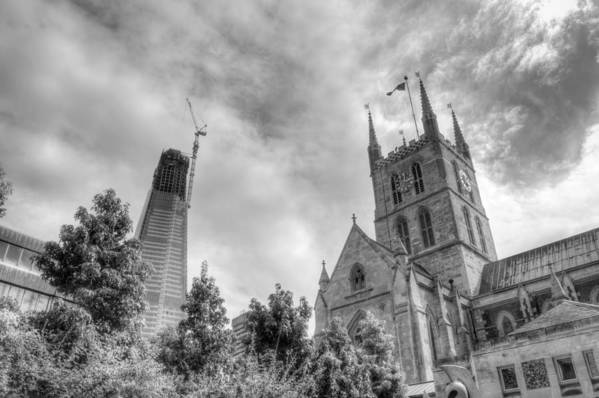 Shard Art Print featuring the photograph New and Old by Chris Day