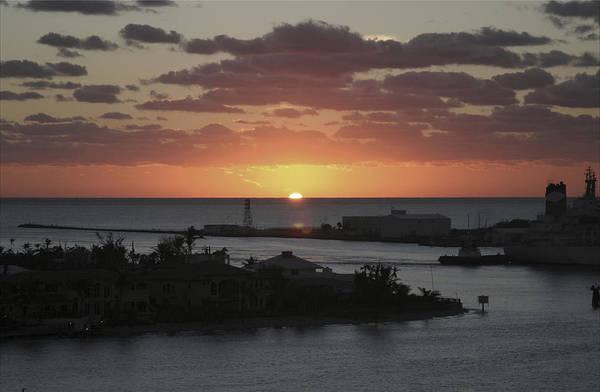 Sunset Art Print featuring the photograph Caribbean Sunset by Katherine Morgan