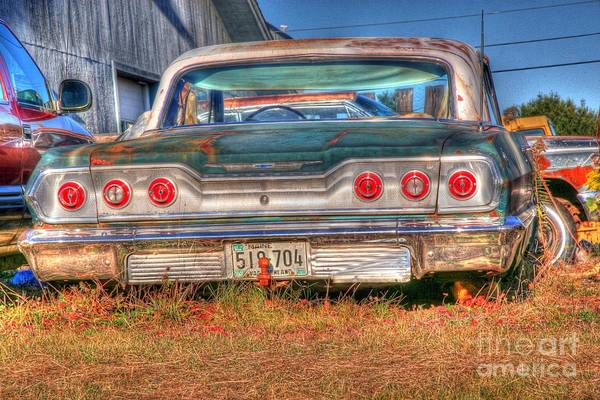 Chevy Art Print featuring the photograph Chevy Blue by Brenda Giasson