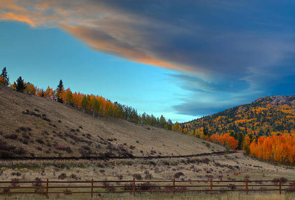 Fall Colors Art Print featuring the photograph Coming Round The Mountain by Tim Reaves