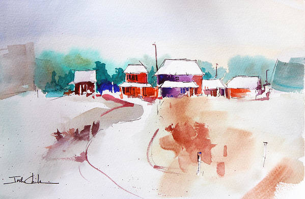 Landscape Art Print featuring the painting Homestead. by Josh Chilton