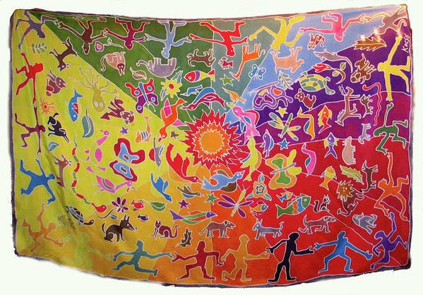 Silk Art Print featuring the painting Kocsis by Rollin Kocsis