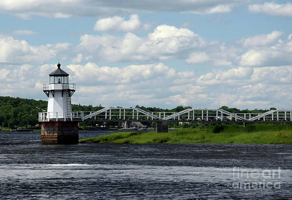 Doubling Point Light Art Print featuring the photograph Lace Lighthouse by Brenda Giasson