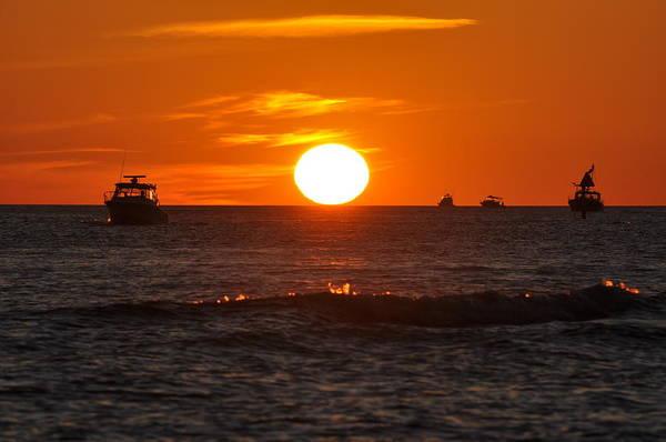 Sunset Art Print featuring the photograph Orange Sunset I by Christine Stonebridge