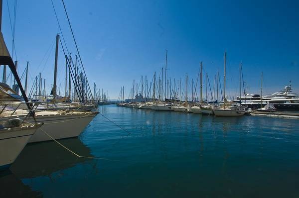 Ships Art Print featuring the photograph Ships in Their Slips in Toulon by Richard Henne