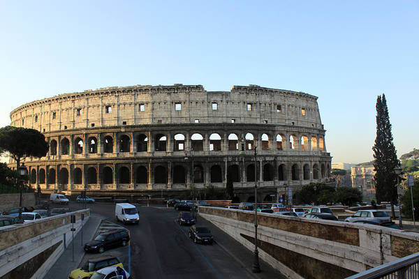 Rome Art Print featuring the photograph The Colosseum in Rome by Munir Alawi