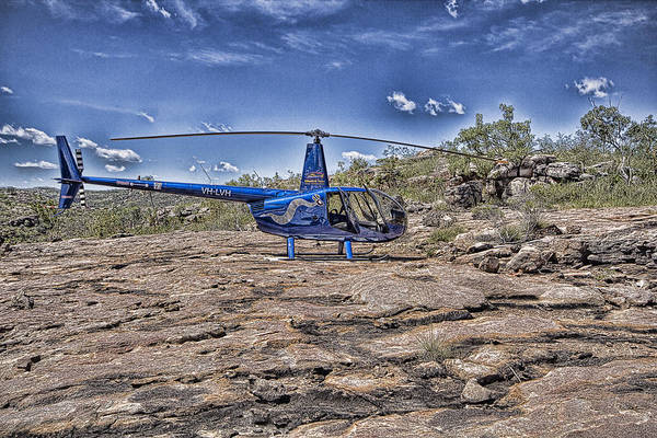 Helicopter Art Print featuring the photograph Top of the Gorge by Douglas Barnard