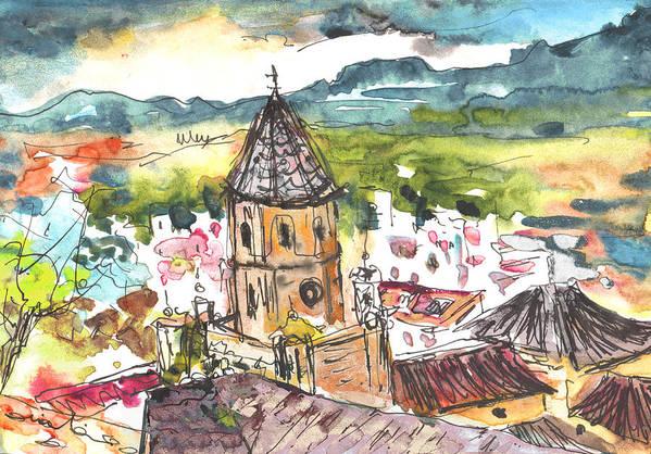 Travel Art Print featuring the painting Velez-malaga 01 by Miki De Goodaboom