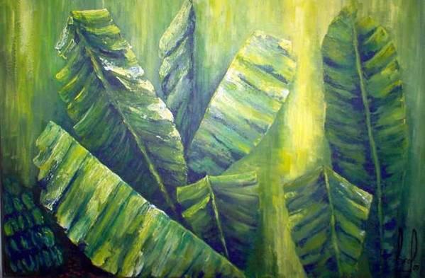 Bananas Art Print featuring the painting Bananas by Carol P Kingsley