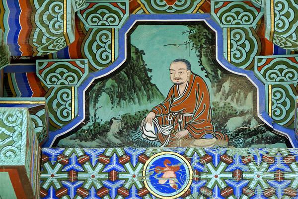 Buddha Art Print featuring the photograph Buddhist Temple Art by Michele Burgess
