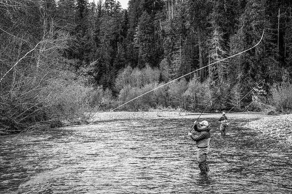 Flyfishing Art Print featuring the photograph On the River by Jason Brooks