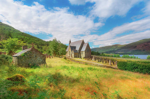 Ballichulish Church Art Print featuring the photograph The Old Highland Church by Roy McPeak