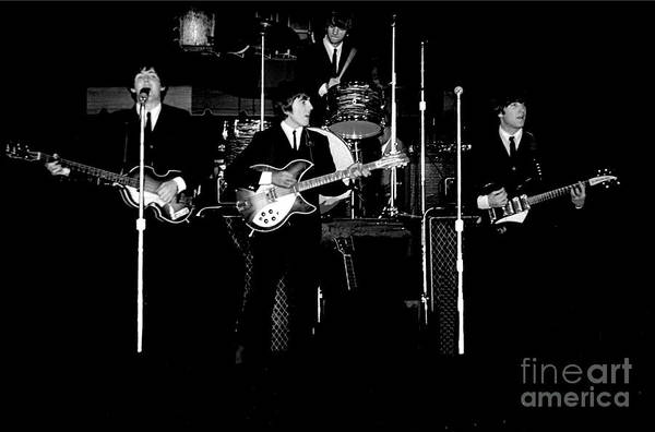 Beatles Art Print featuring the photograph Beatles In Concert 1964 by Larry Mulvehill