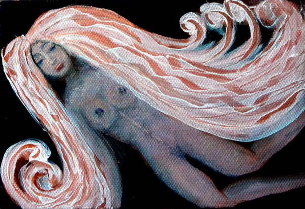Nymph Art Print featuring the painting The Nymph by Pilar Martinez-Byrne