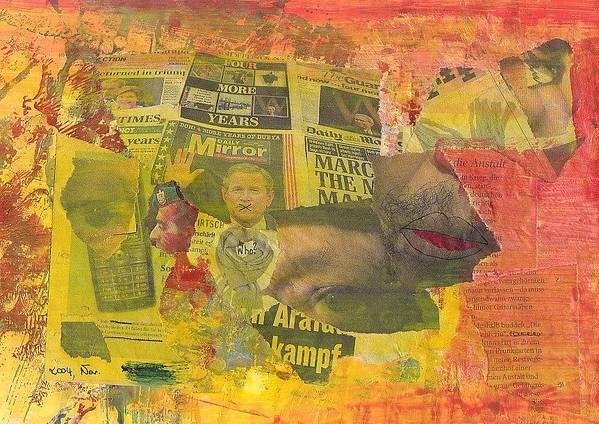 November Art Print featuring the mixed media 2004 November by Michael Puya