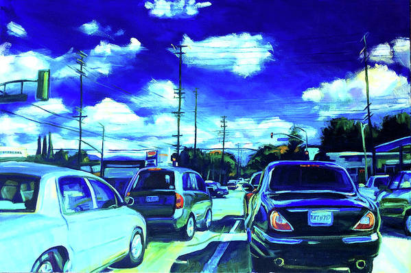 Neighborhood Art Print featuring the painting A Good Day by Bonnie Lambert