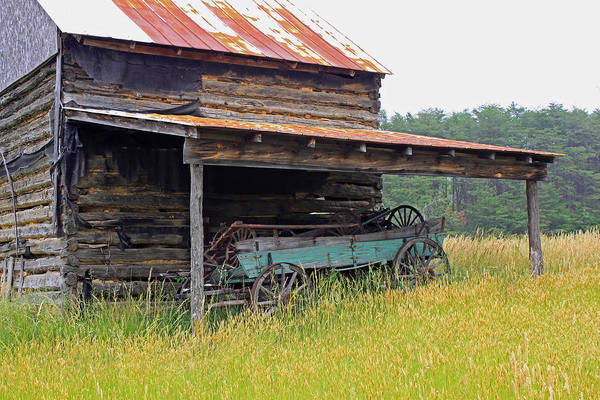 Barn Art Print featuring the photograph Another Time II by Suzanne Gaff