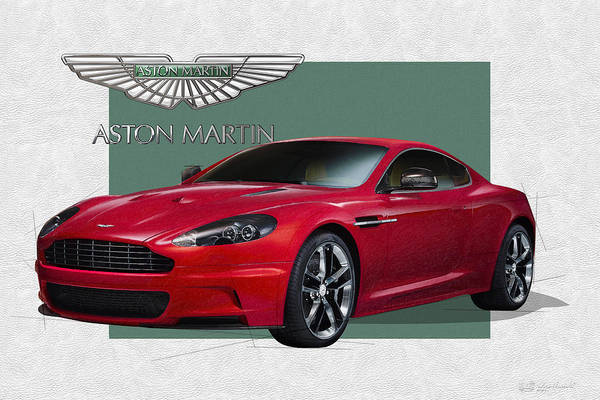 �aston Martin� By Serge Averbukh Art Print featuring the photograph Aston Martin D B S V 12 with 3 D Badge by Serge Averbukh