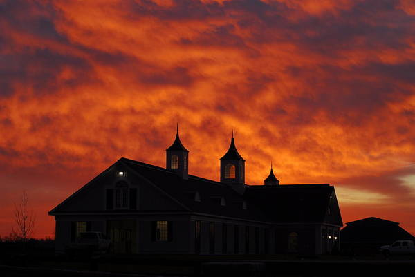 Barn Art Print featuring the photograph Barn Four at Sunrise by Steven Crown