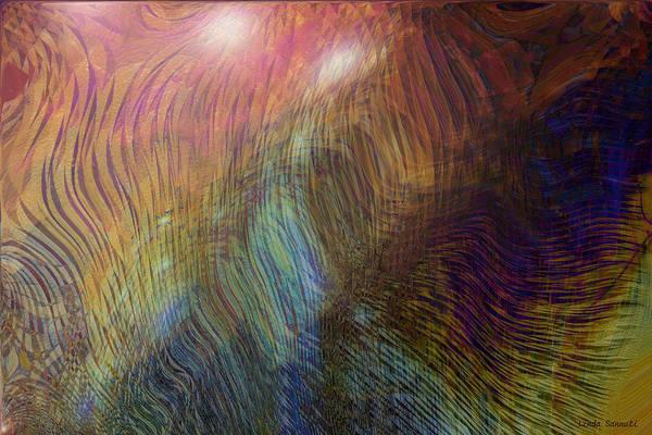 Abstract Art Art Print featuring the digital art Between the lines by Linda Sannuti