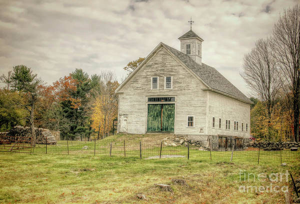 Old Barns Art Print featuring the photograph Big White Barn by Diana Nault